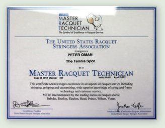master racquet technician certification